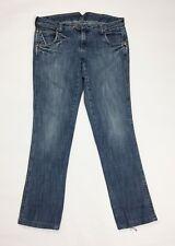 Wrangler meggie jeans donna usato slim w33 tg 46 47 denim gamba dritta T3479