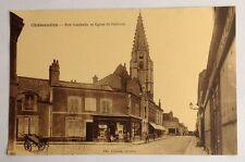 CPA. CHATEAUDUN. 28 - Rue Gambetta et Eglise Saint Valérien.