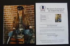 W Axl Rose Guns & Roses Early Signed Autographed 8x10 Promo Photo BAS Certified
