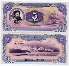 Marie Byrd Land Antarctica 5 dollars 2014 UNC Marco Polo Ship Private Issue