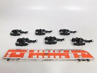CO617-0,5# 6x Märklin H0/AC Drehgestell mit Radsätzen/ Kupplungen für 4173 etc