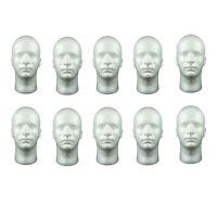10 pièces en polystyrène mâle mannequin tête tête d'affichage modèle pour