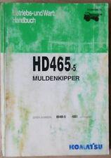 Komatsu camiones de volteo HD 465-5 manual de instrucciones
