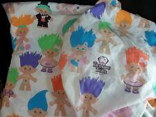 Treasure Trolls Twin Flat Fitted Sheets 1992 Fabric Craft