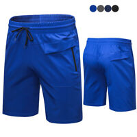 Men's Cool Dry Casual Shorts Running Jogging Bottom with Zipper Pockets Cool Dry