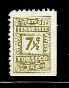 HICK GIRL- MINT U.S. STATE REVENUE   7 1/2 CENT  TENNESSEE TOBACCO TAX     D1172