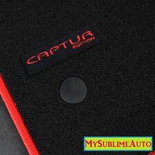 Tapis De Sol Renault Captur Depuis 2013 Velours Edition Logo Brodé NEUFS