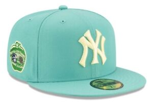 New Era New York Yankees 1977 All Star Patch Mint Green Hat Size 7 1/2 Yellow UV
