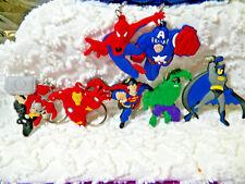 New Super Heros 3D Pvc Key Chain/Zipper Pulls Car Jacket Lot Of 7  K 402