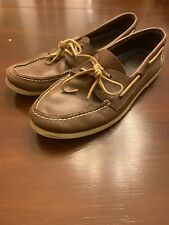 Sperry Top Sider 0195115 Mens 14 M Authentic Original 2-Eye Leather Boat Shoes