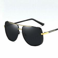 Polarized Driving Sunglasses Men's Fashion Designer Square Aviator Glasses UV400