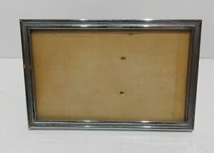 """Vintage 1920 30s ARCO chrome steel photo frame picture frame 5.5"""" x 3.5"""" England"""