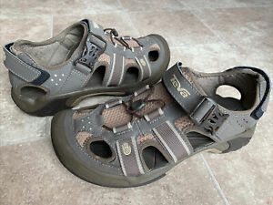 Teva S/N 6148 Omnium Fisherman Sport Brown Closed Toe Sandals Men's Size 8