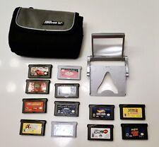 Vintage Nintendo GAMEBOY ADVANCE SP 12 Games Case Magnifier LOT