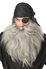 Pirate Beard and Mustache Costume Halloween Accessory - Gray