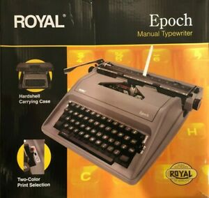 Royal EPOCH Manual 88-Character Typewriter, Gray (79103Y) - FREE SHIPPING