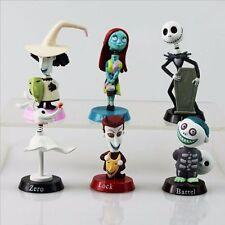 6pcs/Set Nightmare Before Christmas Jack Skellington Figures Figurines Playset