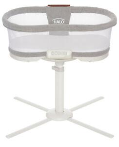 HALO Luxe Next Gen Swivel Sleeper Bassinet Infant Baby Crib Dove Grey Tweed New