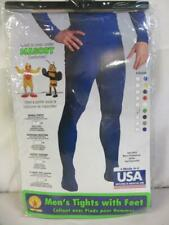 Men's Tights with Feet for Mascot Halloween Costumes Green Size Small