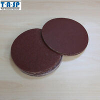 "25PC 5"" 125mm Sanding Disc Sandpaper 60 80 120 180 240 Grit Peel Stick Sander"