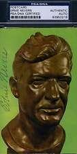 Ernie Nevers Signed Hof Bust Postcard Psa/dna Coa Authentic Autograph