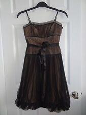 BCBG MAX AZRIA Black Spaghetti Strap Cocktail Bubble Dress Size 0