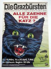 Die Grazbürsten, Jubiläums Programm 10 Jahre Kabarett in Ö, Plakat 1994, Katze