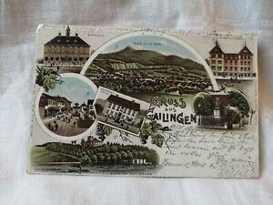 """Historische Lithographie """" GRUSS aus GAILINGEN """""""