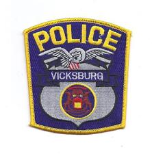 **VICKSBURG MICHIGAN POLICE PATCH**