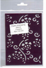 Plastic/PVC/Embossing/Stencil/Flowers/Flourishes/Background/484.139.033
