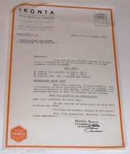 Correspondance Revendeur IKONTA ZEISS IKON 1933 - Coffrets Spécial NOEL