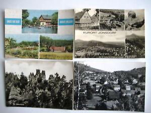 AK Lot Sammlung DDR 4 x JONSDORF b. Zittau ungelaufen Ansichtskarten Lot