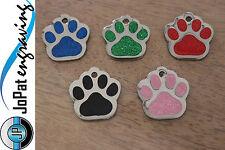 Glitter Deluxe Pet Tag - Puppy Kitten Dog Cat ID Identification Collar Tag