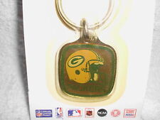VINTAGE GREEN BAY PACKERS KEY RING CHAIN NOS METAL MADE IN USA CAP RODGERS*LooK*