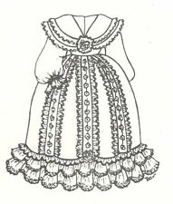 "Sewing Pattern Doll Dress 3 sizes 14 15"" 17 18"" 20 21"" Victorian French U pick"