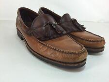 Allen Edmonds Tassel Loafers ASHFORD Sz 11 B Narrow Leather Black Brown Shoes