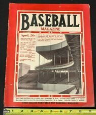 "1924 APRIL ISSUE BASEBALL MAGAZINE ""THE PIRATE CHIEF/OUTFIELDER'S ARMS/OTHERS"""