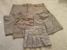 Girls khaki skorts size 7 school uniform lot 6 Items