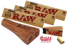 Double Raw Smoking Set & x3 Classic Raw Rolling Paper & Raw Roach 100%