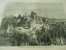 Gravure 1871 - L'insurrection en Algérie Les tribus de Zouara