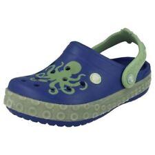 Scarpe Crocs blu da infilare per bambini dai 2 ai 16 anni