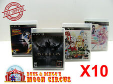 10x SONY PS3 CIB GAME - CLEAR PLASTIC PROTECTIVE BOX PROTECTOR SLEEVE CASE