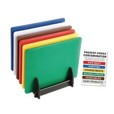 6 X Hygiplas Commercial Kitchen Chopping Board Colour Coded Set Kitchen