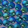 50 Round Cameo Cabochon Jewelry Resin 16mm Mermaid Scale Dragon Fish scale