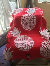 NAUTICA BEACH TOWEL Pineapple RARE HARD TO FIND! NWT - Coral Pink XL