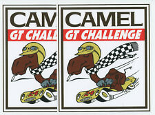 CAMEL GT CHALLENGE RACING LARGE DECALS / STICKERS lot of 2