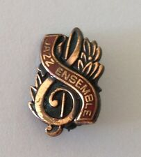 Jazz Ensemble Treble Clef Authentic Small Pin Badge Rare Music (N9)
