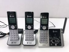 At&T Cl82353 3 Handset Cordless Phone System Dect 6.0 Black Silver
