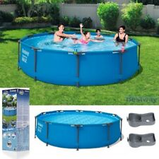 Round SWIMMING POOL 305 cm 10FT BESTWAY Garden Frame Above Ground Pool Steel Pro