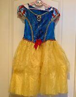 Sz M (8-10) Disney Princess Snow White Fairytale Dress Kid Costume Girl's Used